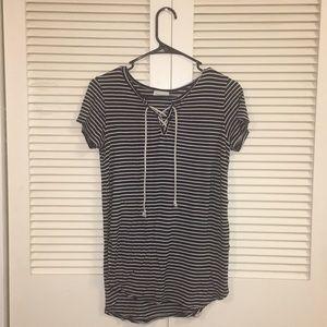 Black & White - Striped Top